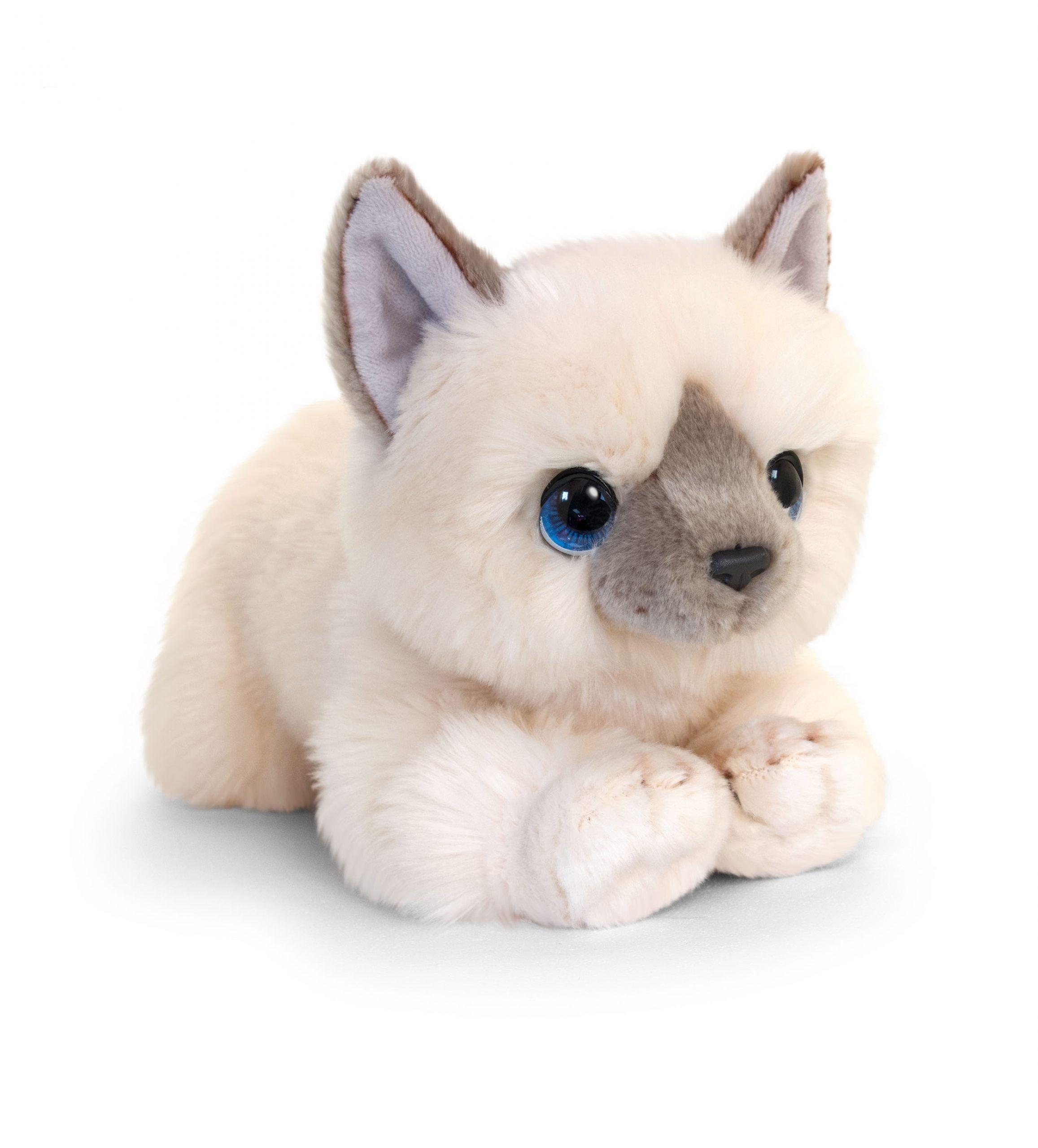 Plyšová mačka krémová