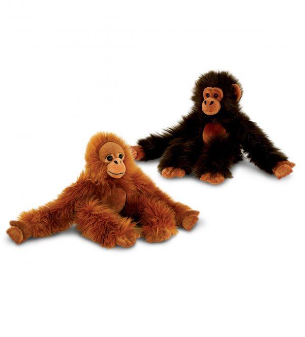 Plyšová opica s dlhými rukami