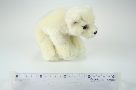 Plyšový biely medveď