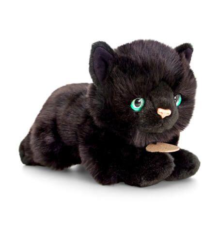 Plyšová čierna mačka