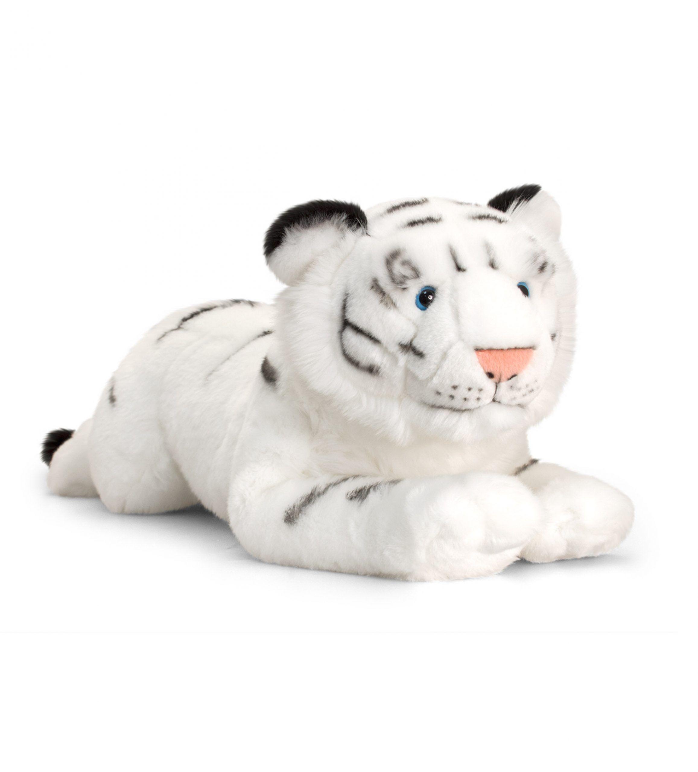 Veľký plyšový biely tiger