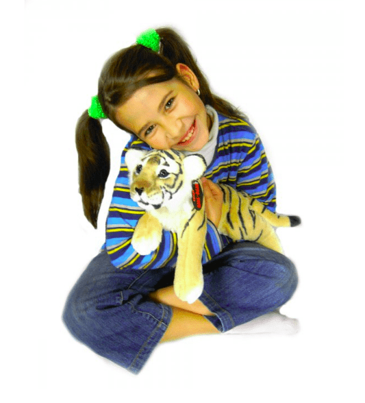 Plyšový tiger hnedý